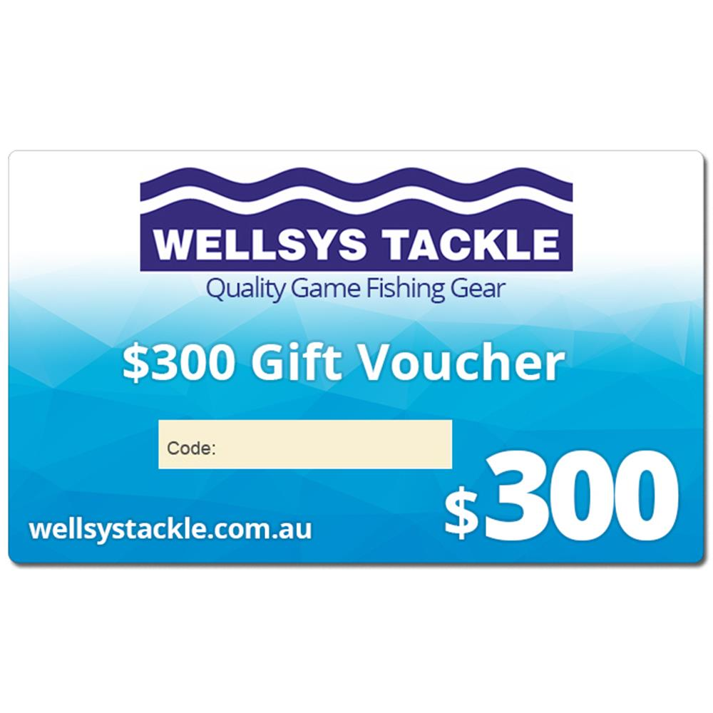 $300 Gift Voucher - Wellsys Tackle