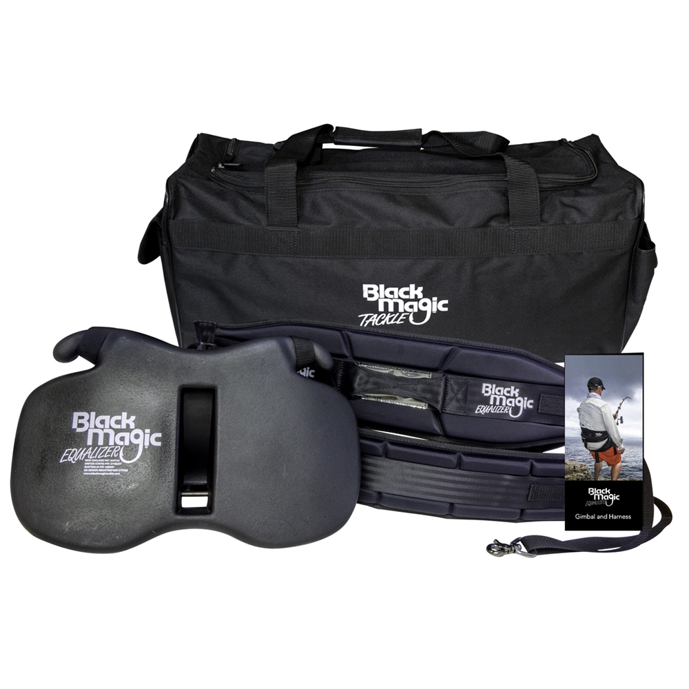 Black Magic Equaliser Fighting Belt & Harness Set with Bonus Carry Bag