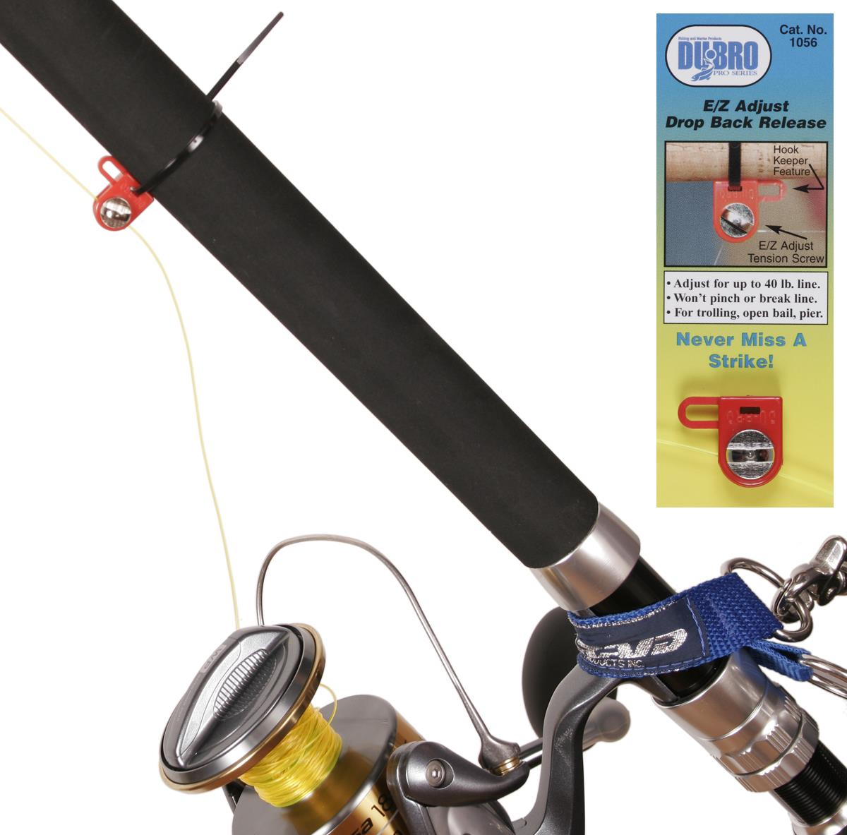 DuBro SPIN FISHING outfit DROP BACK Line RELEASE (Pkt/2)