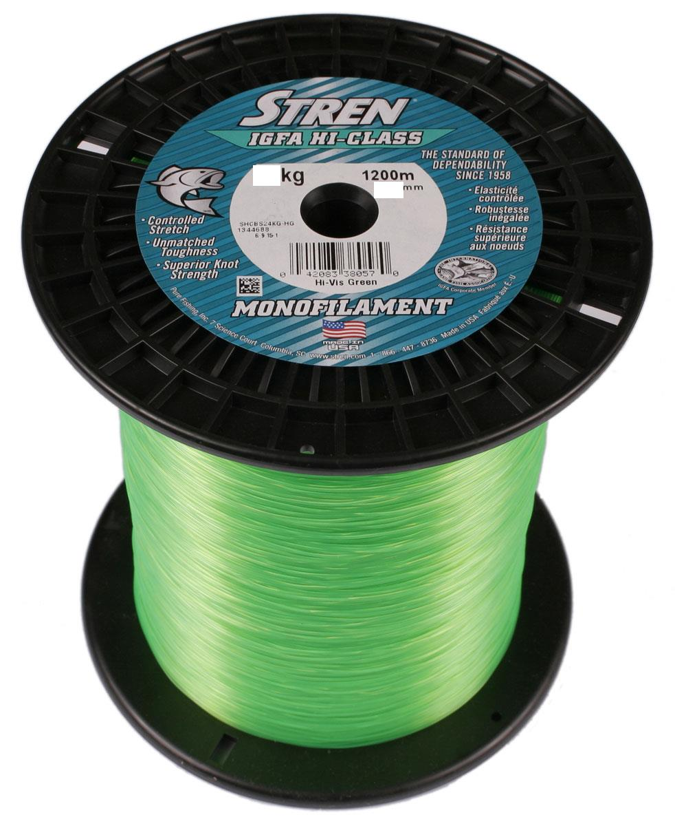 Stren igfa mono fishing line hi vis green from wellsys tackle for Hi vis fishing line